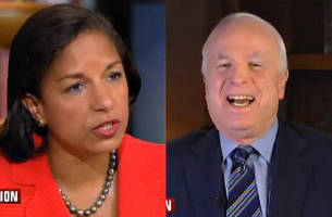 mccain: 'almost speechless' at susan rice's benghazi claim